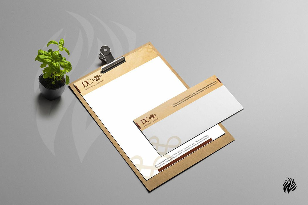DC-Chocolate-Stationery-Kit-Brand-Identity-White-and-Black-Trichy