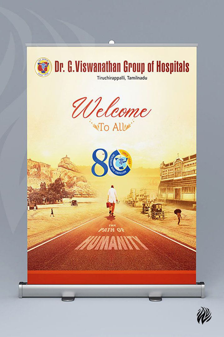 Dr.G.Viswanathan-Speciality-Hospitals-Standee-Design-White-and-Black