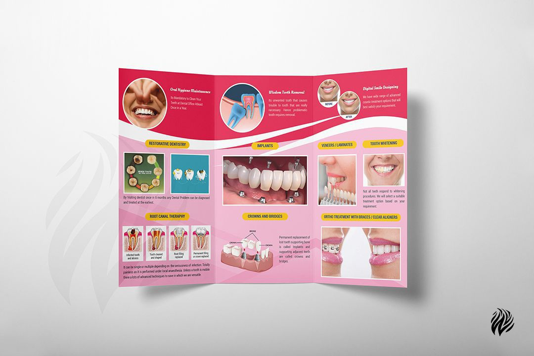 Dr.Niveas-Dental-tri-fold-brochuredesign-services-in-trichy-white-and-black