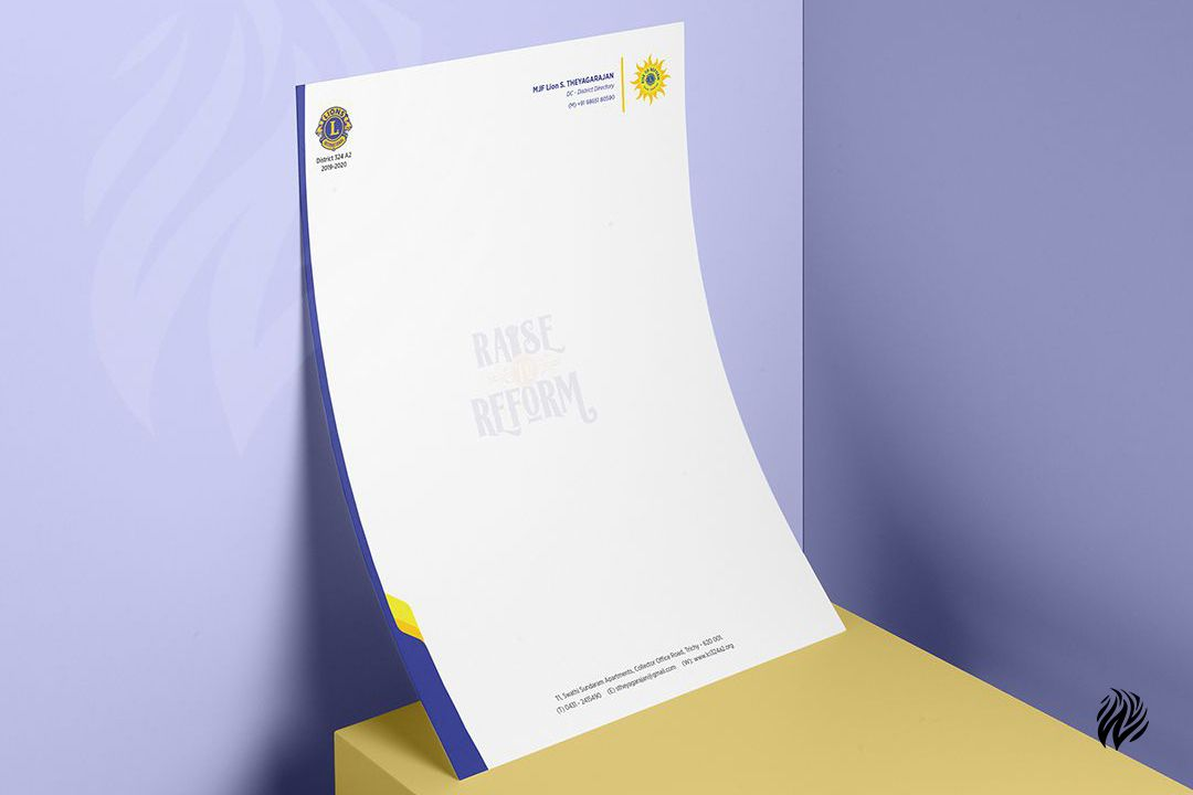 Lions-Club-letter-head-design-services-in-trichy-white-and-black