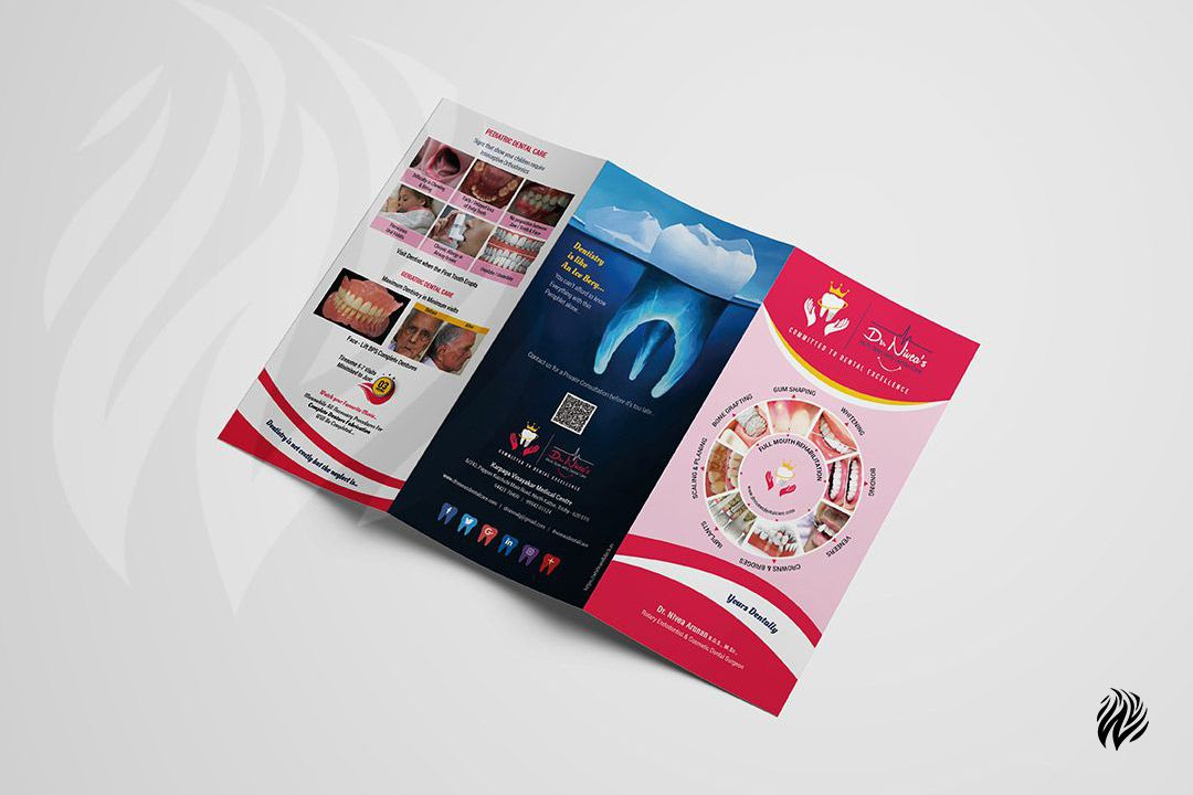 Nivea-Dental-tri-fold-brochuredesign-services-trichy-white-and-black