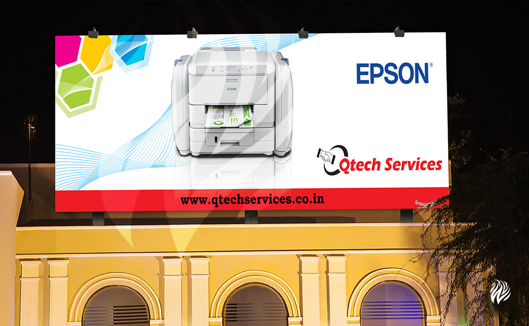 Qtech-hoarding-design-services-trichy-white-and-black