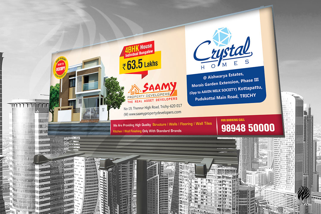 Saamy-Properties-hoarding-services-trichy-white-and-black