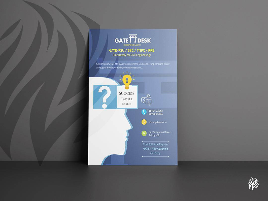 gatedesk-flyer-design-white-and-black-trichy