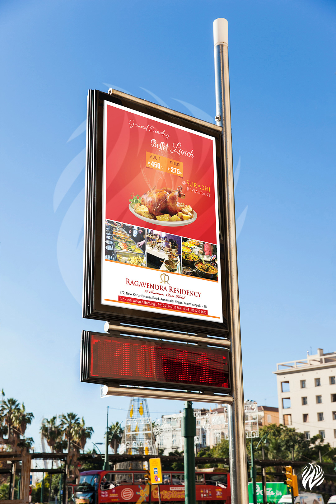 pole-kiosk-advertising-services-trichy-white-and-black